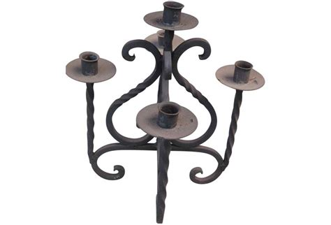 Iron Candle Holders Mexican Wrought Iron Candle Holder Omero Home