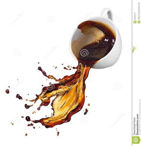 Spilling Coffee Stock Photo   Image: 40310111