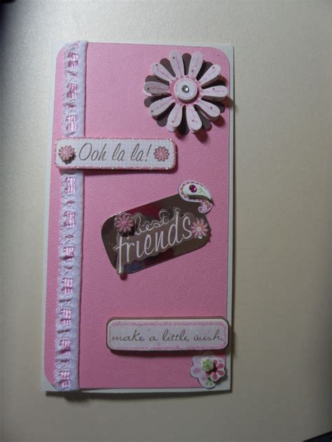 Handmade Birthday Cards For Best Friend - a made best friends birthday card folksy