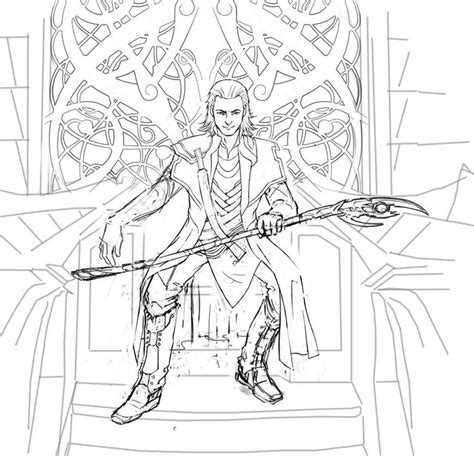 avengers coloring pages loki loki coloring pages loki wip 3 by cyannfanart marvel