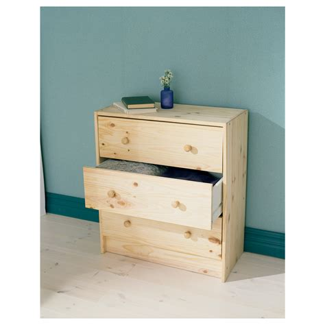 ikea dresser rast chest of 3 drawers pine 62x70 cm ikea