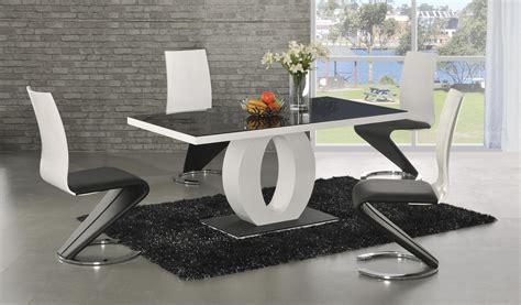 designer kitchen tables ga angel black glass white gloss 160 cm designer dining