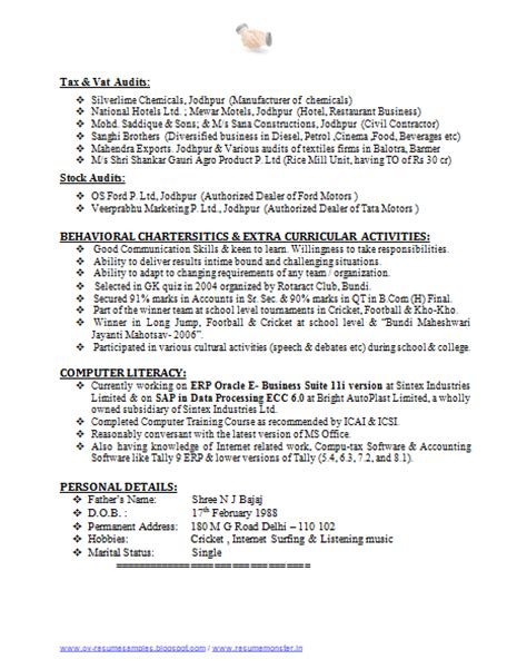 Exle Of A Great Resume by 12280 Professional Resume Formats 2014 A Great Resume