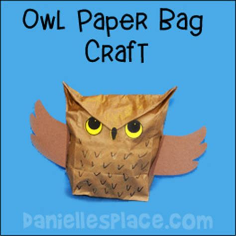 Paper Bag Craft - owl crafts and learning activities for