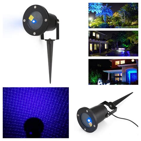 blue led laser beam projector lights outdoor landscape