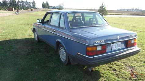 volvo 1989 sedan volvo 240 sedan 1989 low automatic blue