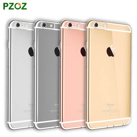 Pzoz Transparent Clear Soft Silicone For Iphone 55s pzoz for iphone 6 silicone cover original for iphone 6s plus transparent color slim phone