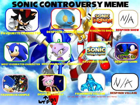 Sonic Memes - haalyle s sonic controversy meme by haalyle on deviantart