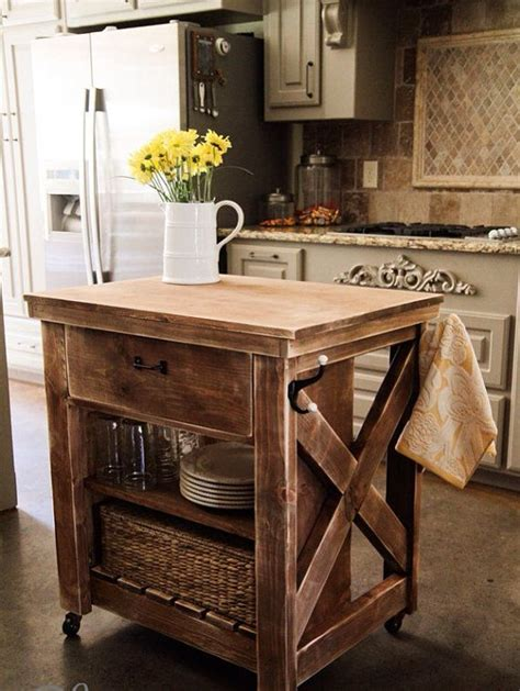 Diy Portable Kitchen Island Mobile Kitchen Island Diy Woodworking Projects Plans