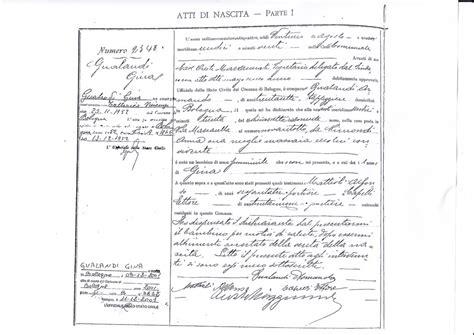 ufficio stato civile bologna gli atti dello stato civile ricerche anagrafiche e