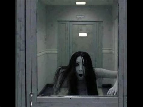 creepy grudge ghost in the mirror | real ghost video