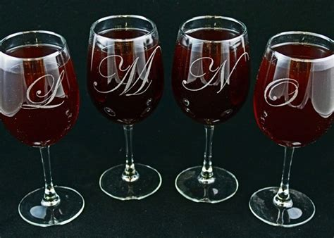 monogrammed barware glasses monogrammed wine glasses idea stereomiami architechture