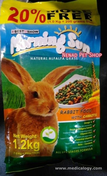 jual makanan kelinci morning sun rabbit food with carrot murah