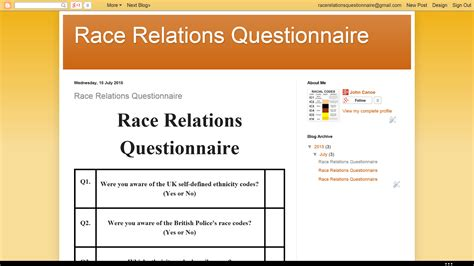 Race Relations In America Today Essay by United Races Race Relations Questionnaire