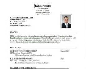 Formal Resume by Sle Of Resume Format Sle Resumes
