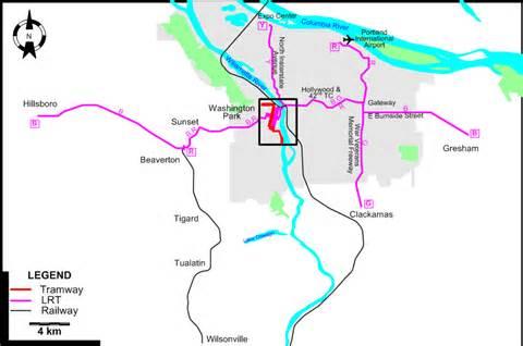 Portland Tram Map by Portland 2009