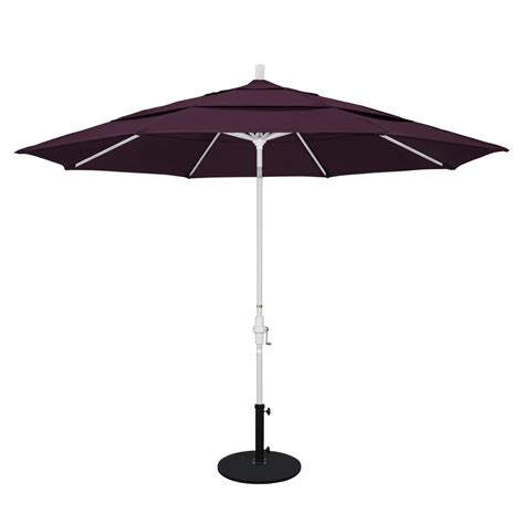 California Umbrella 11 Ft Aluminum Collar Tilt Double Purple Patio Umbrella