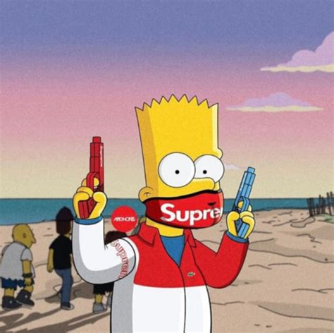 Bart Simpsons X Supreme supreme