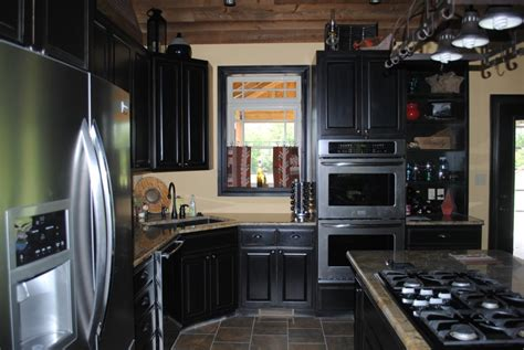 Kitchen Designs Small Space Black Kitchen Cabinets Small Kitchen With Black Cabinets