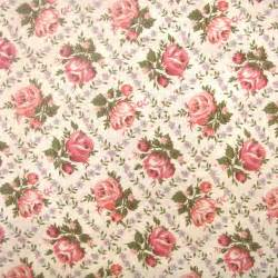 Checked Fabric For Upholstery Sale Wonderful Vintage 1940 S Rose Print Fabric 1 3 4