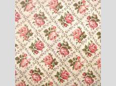 SALE Wonderful Vintage 1940's Rose Print Fabric 1 by TheTinThimble