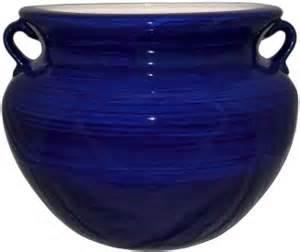 mexican talavera large planter cobalt blue