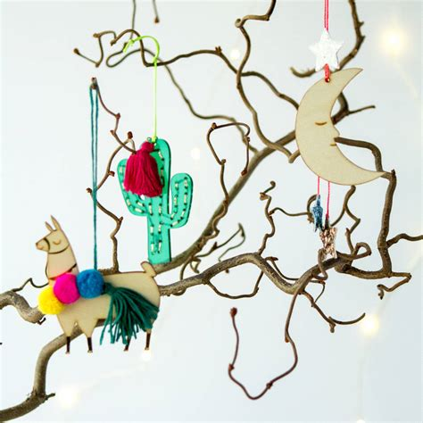 perspex or wood laser cut tree decoration by berylune
