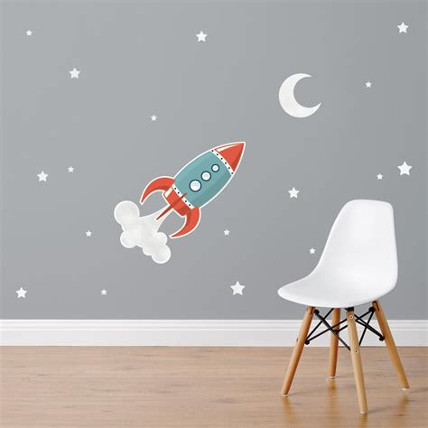 rocket wall stickers rocket fabric wall stickers by nest accessories