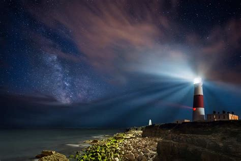light house at night portland bill lighthouse at night image and iceland landscape images shortlisted for