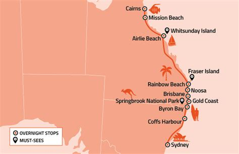 AU east coast roadmap 620x400   STA Travel Blog