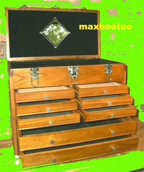 Wooden Tool Chest With Drawers by 8 Drawer Machinist Wooden Tool Chest Wood Cabinet Box