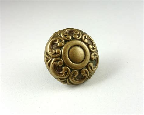 Solid Brass Knobs by 1 Solid Brass Drawer Knobs Flower Door By Hooksandhardware