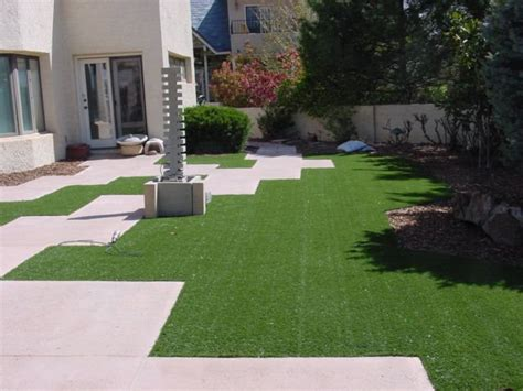 fake grass backyard artificial turf grass landscaping network