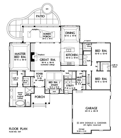2500 sq ft ranch house plans plan of the week ranch and hillside walkout house