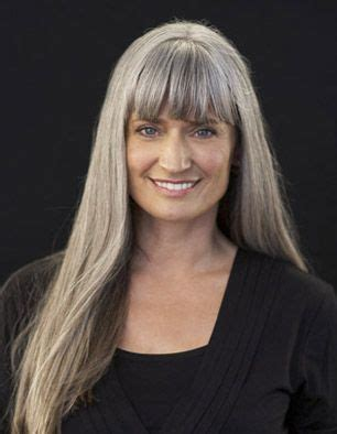 hairstyle gray with bangs long grey hair with bangs love it hair obsession