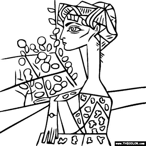cubism coloring pages coloring pages