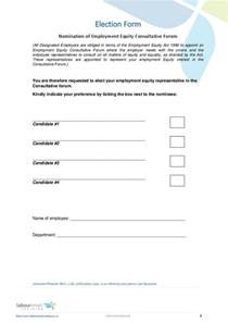 nomination form template ee nomination form document labour south africa