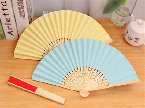 How To Make Wind Fan With Paper - free shipping summer folding origami folded blank