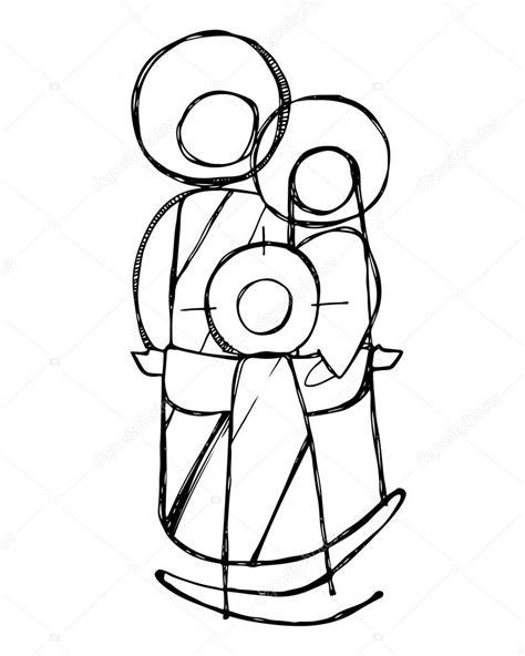 imagenes en blanco y negro de la sagrada familia sagrada fam 237 lia de jesus vetor de stock 169 bernardojbp