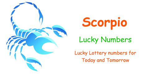 scorpio lucky lottery numbers today and tomorrow