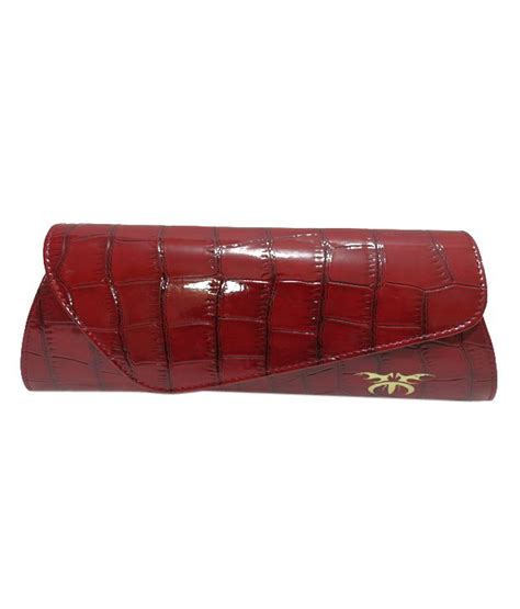 Croco Clutch Maroon buy maroon croc finish clutch at best prices in