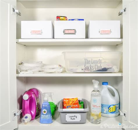 Organizing Laundry Room Cabinets by Bright Organized Laundry Room Reveal A Prudent