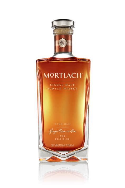 mortlach whiskys  bottles revealed media releases  cognis pr