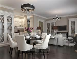 Kitchen Room Interior by Kitchen Living Room Design In The Deco Style Modern