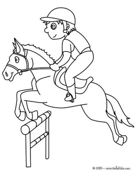 boy jumping coloring page boy on jumping horse coloring pages hellokids com