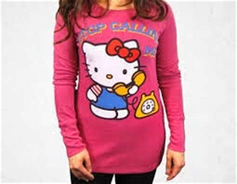 Kaos Lengan Panjang Doraemon Pink kumpulan gambar baju hello lucu kaos shirt hello