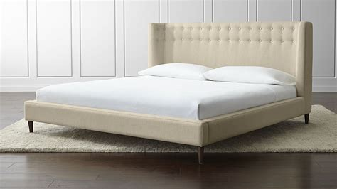 King Bed by Upholstered King Bed Brennan Pearl Crate And Barrel
