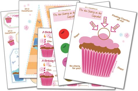 printable party games free kid s birthday cupcake party kit kids birthday party