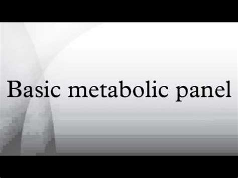 Basic Metabolic Panel Also Search For Basic Metabolic Panel