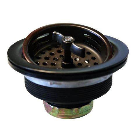 bronze kitchen sink strainer westbrass 3 1 2 in wing nut basket strainer in oil rubbed